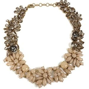 J. Crew Blush + Smokey Gold Statement Necklace